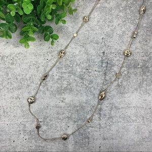 Brighton Contempo Long Silver Plated Necklace
